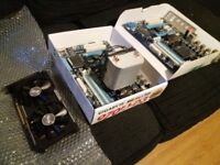 2 Motherboards, Cooler and a degraded CPU and Graphics Card