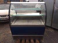 Counter service display fridge 110cm in excellent condition