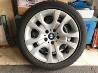 Pirelli winter runflat tyres on BMW X1 steel wheels