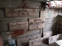 assorted beer wall or free standing placks