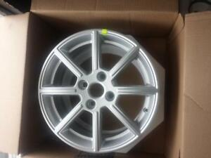 BRAND NEW NEVER MOUNTED FORD  FIESTA FACTORY OEM  16 INCH ALLOY WHEEL SET OF FOUR.  NO SENSORS.NO CENTER CAPS