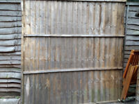 One piece of wood fence panel for free