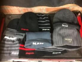 Selection of Snap-on and M.A.N hats.