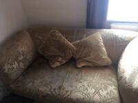 Gold, 2 seat sofa