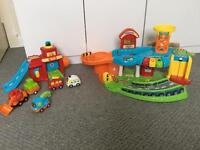 V tech toot toot toy cars and garage