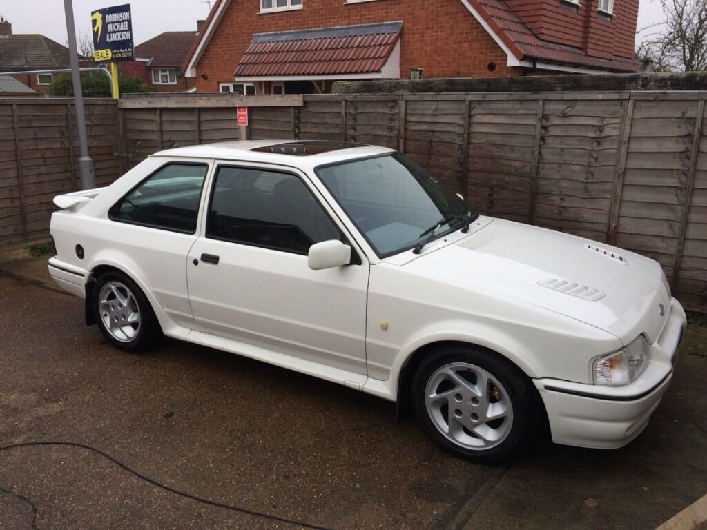 Ford Escort Rs Turbo White Low Milage 1989 In Gravesend Kent Gumtree
