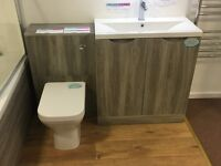 WC and basin with cabinet