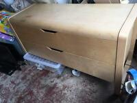 Large birch chest of drawers