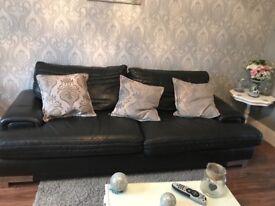 Leather sofas black modern