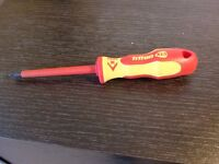 CK TRITON XLS INSULATED VDE SCREWDRIVER POZI SLOT PZ1 PZ2 1000v T4729