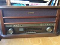 Auna Record CD Vinyl Cassette MP3 Player Radio