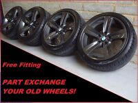 "2020 Genuine 18"" BMW 189 3 Series E90 91 92 93 Grey Alloy Wheels And New Tyres"