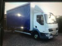 2010 DAF LF 4.5 TRUCK WHITE/BLUE CURTAIN SIDES 267 000 KLMS TAILIFT