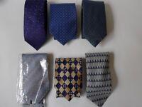 Men's Silk Ties. 6 off Job Lot. Look Never Worn.