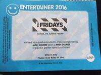 TGI Friday's - BOGOF - Entertainer Dubai 2016 Voucher