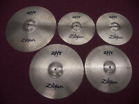 "DRUMS , Cymbals Zildjian ZHT Cymbal Pack – 14"" Hi-Hat , 16"" Crash , 16"" China , 20"" Ride + Gig Bag."