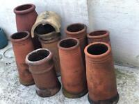 8 Assorted Victorian Chimney Pots