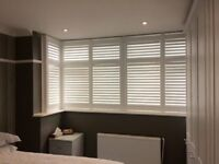 HARDWOOD SHUTTER PANELS 10 IN TOTAL PLUS FRAME WORK ALL THERE