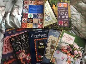 needlepoint knitting cross stitch books