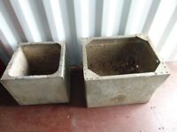 Two galvinized tanks ideal planters