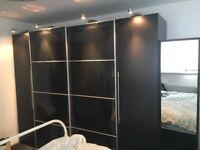 Black ikea Pax wardrobes 250cm width