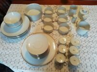 43-Piece Thomas White Dinner & Coffee Service with Gold Trim