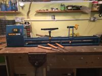 Woodworking Lathe with three tools