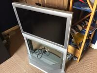 """Toshiba 32"""" tv with built in glass stand"""
