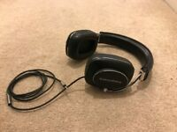 Bowers & Wilkins P7 wired headphones - leather and chrome