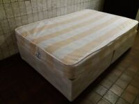 Divan Double Bed with Mattress x2, stong, firm, clean and in very good condition.