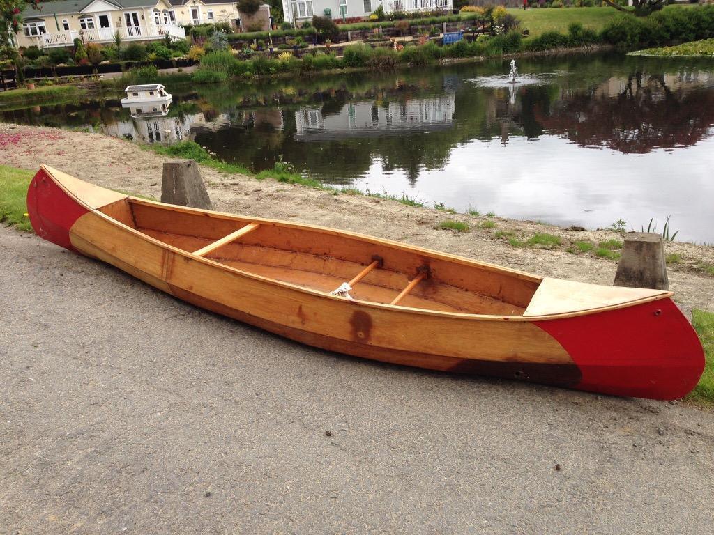 Baby Raven Assymetrical 12 Foot Wooden Open Canoe In