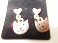 Hallmarked silver earrings