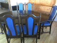 Errol Saville dining table..6 chairs (2 carvers) & matching sideboard