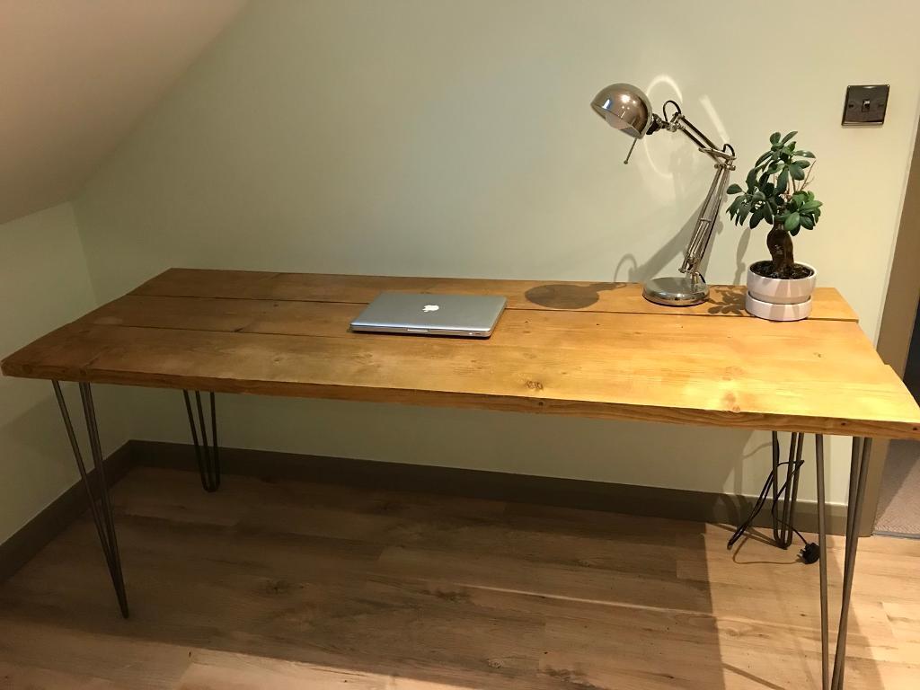 Industrial office desk table