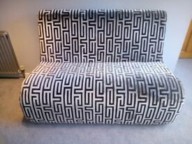 Silver grey/black sofa - ideal for man cave or playroom - must go asap