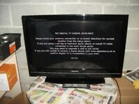 "32"" lcd tv toshiba no longer used with remote good condition"