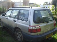 SUBARU FORESTER 2001 ON A X PLATE
