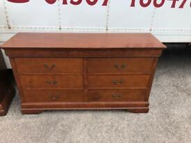 Long mahogany chest * free furniture delivery *
