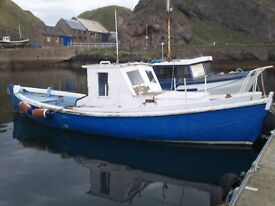 26' WOODEN HULL FISHING BOAT - MASSIVE PRICE REDUCTION
