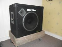 300 w Bass Speaker Cab. - Hartke VX115 - Suitable for bass guitar or electric keyboard or organ.
