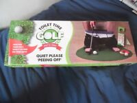 golf putt return machine and silly toilet golf game 10 for both