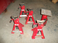 10 Ton Bottle Jack and 4 x 2 Ton Jack Stands