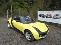 Smart Roadster 80 Convertible Automatic In Black/Yellow, 2005 55 reg, One Owner, Service History