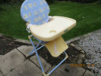 Baby and toddler fold-up high chair