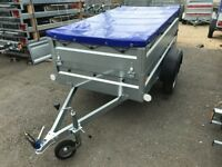 BRAND NEW Faro Pondus car box trailer with double side and flat cover