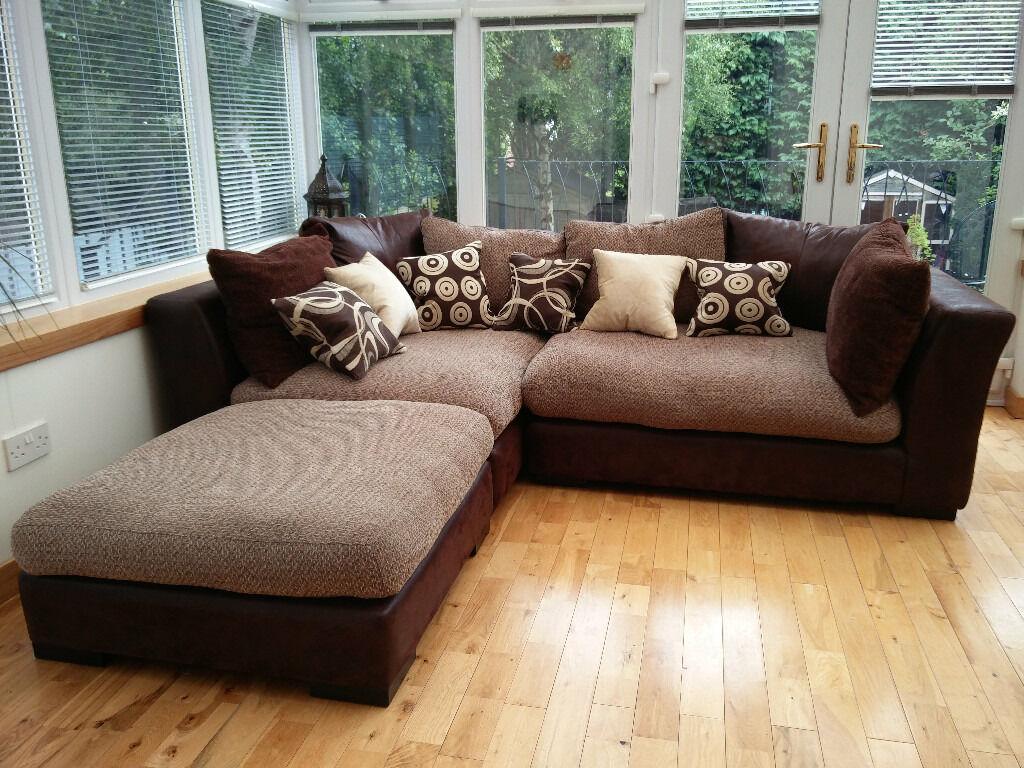 Dfs Madison Left Corner Modular Sofa In Longstone