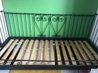 Black Metal IKEA Single Bed Frame