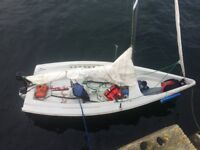 Laser Stratos sailing dinghy - Centreboard Model with combi road & launch trailer