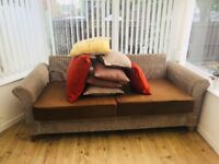 FREE BROWN RATTAN SOFA