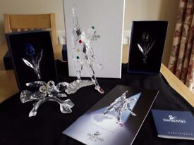 Various silver crystal items for sale all boxed and with certificates.